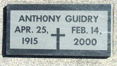 GUIDRY, ANTHONY - Acadia County, Louisiana | ANTHONY GUIDRY - Louisiana Gravestone Photos