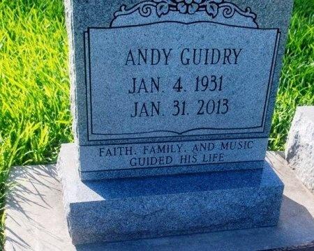 GUIDRY, ANDY JOHN - Acadia County, Louisiana | ANDY JOHN GUIDRY - Louisiana Gravestone Photos