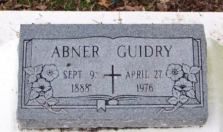 GUIDRY, ABNER - Acadia County, Louisiana | ABNER GUIDRY - Louisiana Gravestone Photos