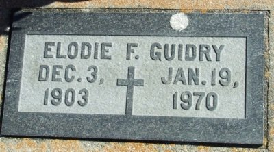 GUIDRY, ELODIE F - Acadia County, Louisiana | ELODIE F GUIDRY - Louisiana Gravestone Photos