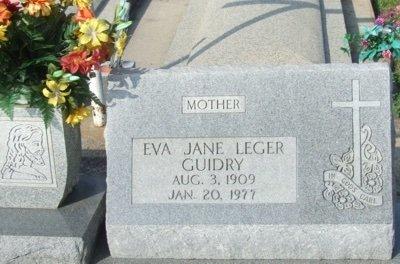 GUIDRY, EVA JANE - Acadia County, Louisiana | EVA JANE GUIDRY - Louisiana Gravestone Photos
