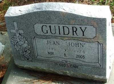 "GUIDRY, JEAN ""JOHN"" - Acadia County, Louisiana 