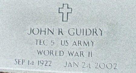 GUIDRY, JOHN R  IVETERAN WWII) - Acadia County, Louisiana | JOHN R  IVETERAN WWII) GUIDRY - Louisiana Gravestone Photos