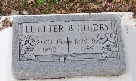 GUIDRY, LUETTER - Acadia County, Louisiana | LUETTER GUIDRY - Louisiana Gravestone Photos