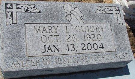 GUIDRY, MARY L - Acadia County, Louisiana | MARY L GUIDRY - Louisiana Gravestone Photos