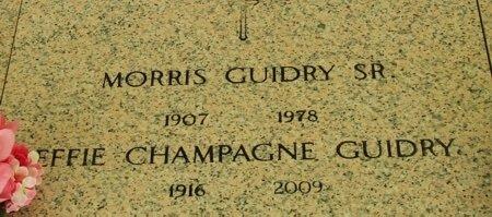 GUIDRY, MORRIS, SR - Acadia County, Louisiana   MORRIS, SR GUIDRY - Louisiana Gravestone Photos