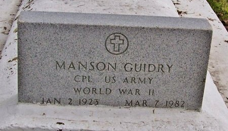 GUIDRY, MANSON  (VETERAN WWII) - Acadia County, Louisiana   MANSON  (VETERAN WWII) GUIDRY - Louisiana Gravestone Photos