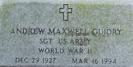 GUIDRY, ANDREW MAXWELL (VETERAN WWII) - Acadia County, Louisiana | ANDREW MAXWELL (VETERAN WWII) GUIDRY - Louisiana Gravestone Photos