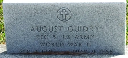 GUIDRY, AUGUST (VETERAN WWII) - Acadia County, Louisiana   AUGUST (VETERAN WWII) GUIDRY - Louisiana Gravestone Photos