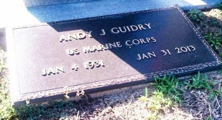 GUIDRY  , ANDY J (VETERAN KOR) - Acadia County, Louisiana   ANDY J (VETERAN KOR) GUIDRY   - Louisiana Gravestone Photos