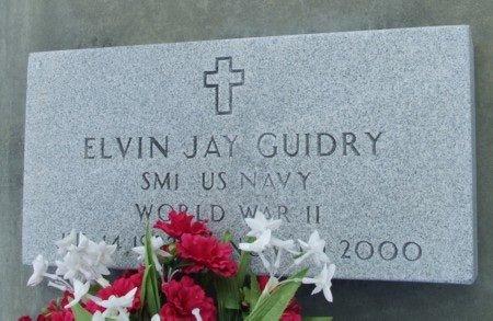 GUIDRY, ELVIN JAY (VETERAN WWII) - Acadia County, Louisiana | ELVIN JAY (VETERAN WWII) GUIDRY - Louisiana Gravestone Photos