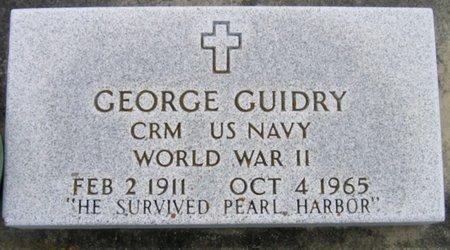 GUIDRY, GEORGE (VETERAN WWII) - Acadia County, Louisiana   GEORGE (VETERAN WWII) GUIDRY - Louisiana Gravestone Photos
