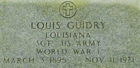 GUIDRY, LOUIS (VETERAN WWI) - Acadia County, Louisiana | LOUIS (VETERAN WWI) GUIDRY - Louisiana Gravestone Photos