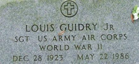 GUIDRY, LOUIS, JR (VETERAN WWII) - Acadia County, Louisiana | LOUIS, JR (VETERAN WWII) GUIDRY - Louisiana Gravestone Photos