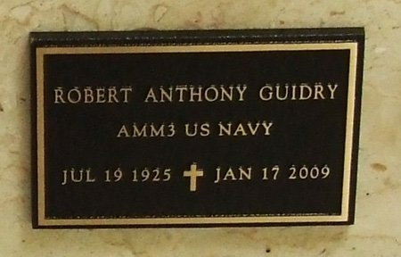 GUIDRY, ROBERT ANTHONY (VETERAN WWII) - Acadia County, Louisiana | ROBERT ANTHONY (VETERAN WWII) GUIDRY - Louisiana Gravestone Photos