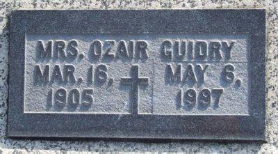 GUIDRY, ORALINE - Acadia County, Louisiana   ORALINE GUIDRY - Louisiana Gravestone Photos