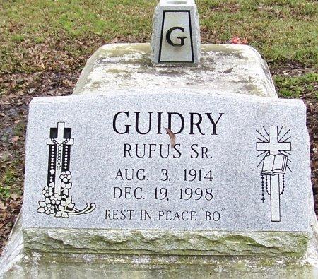 """GUIDRY, RUFUS, SR  """"BO"""" - Acadia County, Louisiana   RUFUS, SR  """"BO"""" GUIDRY - Louisiana Gravestone Photos"""