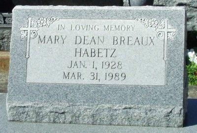 HABETZ, MARY DEAN - Acadia County, Louisiana | MARY DEAN HABETZ - Louisiana Gravestone Photos