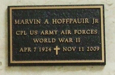 HOFFPAUIR, MARVIN A, JR (VETERAN WWII) - Acadia County, Louisiana   MARVIN A, JR (VETERAN WWII) HOFFPAUIR - Louisiana Gravestone Photos