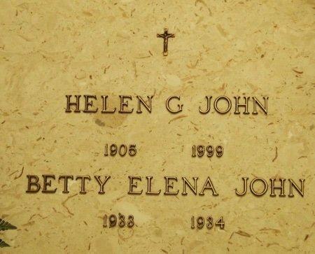 JOHN, BETTY ELENA - Acadia County, Louisiana | BETTY ELENA JOHN - Louisiana Gravestone Photos
