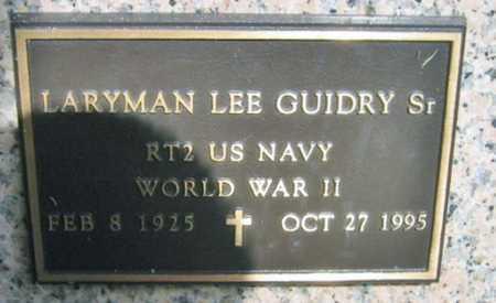 GUIDRY, LARYMAN LEE, SR (VETERAN WWII) - Acadia County, Louisiana | LARYMAN LEE, SR (VETERAN WWII) GUIDRY - Louisiana Gravestone Photos