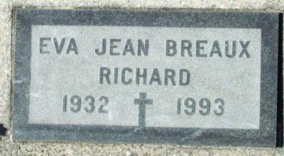 BREAUX RICHARD, EVA JEAN - Acadia County, Louisiana | EVA JEAN BREAUX RICHARD - Louisiana Gravestone Photos