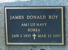 ROY, JAMES DONALD (VETERAN KOR) - Acadia County, Louisiana | JAMES DONALD (VETERAN KOR) ROY - Louisiana Gravestone Photos