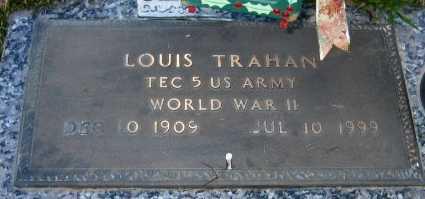 TRAHAN, LOUIS  (VETERAN WWII) - Acadia County, Louisiana   LOUIS  (VETERAN WWII) TRAHAN - Louisiana Gravestone Photos