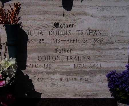 TRAHAN, JULIA - Acadia County, Louisiana | JULIA TRAHAN - Louisiana Gravestone Photos
