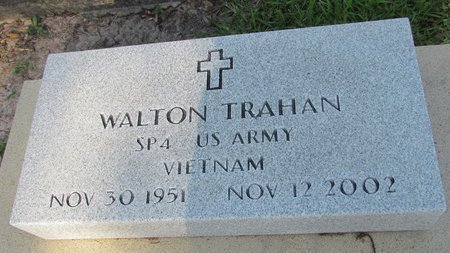 TRAHAN, WALTON  (VETERAN VIET) - Acadia County, Louisiana | WALTON  (VETERAN VIET) TRAHAN - Louisiana Gravestone Photos