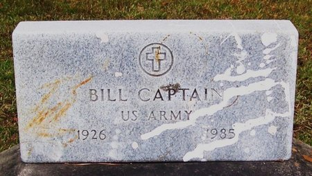 CAPTAIN, BILL  (VETERAN) - Allen County, Louisiana   BILL  (VETERAN) CAPTAIN - Louisiana Gravestone Photos