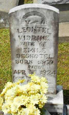 VIDRINE DESHOTEL, LEONTEL - Allen County, Louisiana | LEONTEL VIDRINE DESHOTEL - Louisiana Gravestone Photos