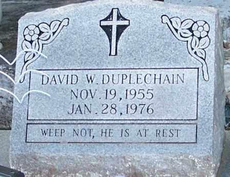 DUPLECHAIN, DAVID W - Allen County, Louisiana   DAVID W DUPLECHAIN - Louisiana Gravestone Photos