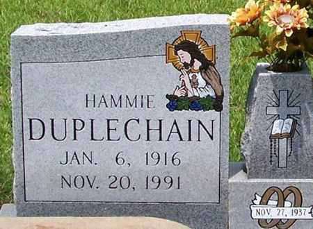 DUPLECHAIN, HAMMIE (CLOSEUP) - Allen County, Louisiana   HAMMIE (CLOSEUP) DUPLECHAIN - Louisiana Gravestone Photos