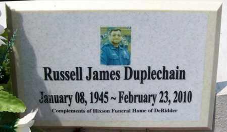 DUPLECHAIN, RUSSELL JAMES - Allen County, Louisiana   RUSSELL JAMES DUPLECHAIN - Louisiana Gravestone Photos