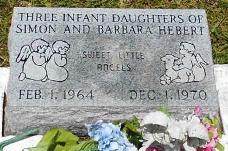 HEBERT, INFANT DAUGHTERS (3) - Allen County, Louisiana   INFANT DAUGHTERS (3) HEBERT - Louisiana Gravestone Photos
