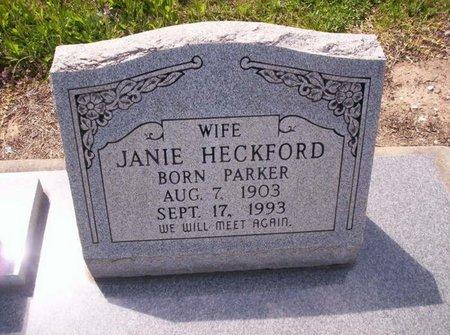 HECKFORD, JANIE - Allen County, Louisiana | JANIE HECKFORD - Louisiana Gravestone Photos