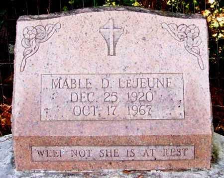 LEJEUNE, MABLE - Allen County, Louisiana   MABLE LEJEUNE - Louisiana Gravestone Photos