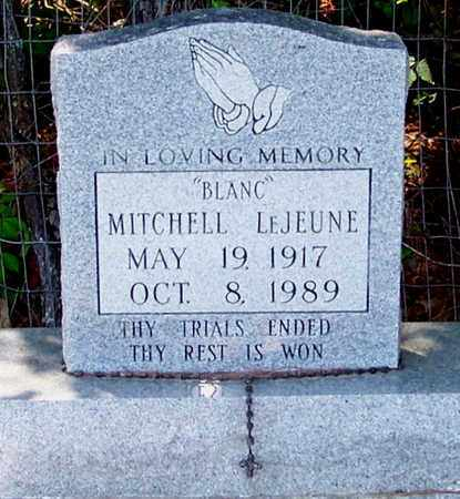 "LEJEUNE, MITCHELL ""BLANC"" - Allen County, Louisiana   MITCHELL ""BLANC"" LEJEUNE - Louisiana Gravestone Photos"