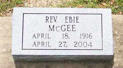 MCGEE, EBIE, REV - Allen County, Louisiana | EBIE, REV MCGEE - Louisiana Gravestone Photos