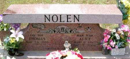 YOUNG NOLEN, ALICE - Allen County, Louisiana | ALICE YOUNG NOLEN - Louisiana Gravestone Photos