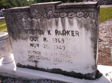 PARKER, LIEUTETIA K - Allen County, Louisiana | LIEUTETIA K PARKER - Louisiana Gravestone Photos