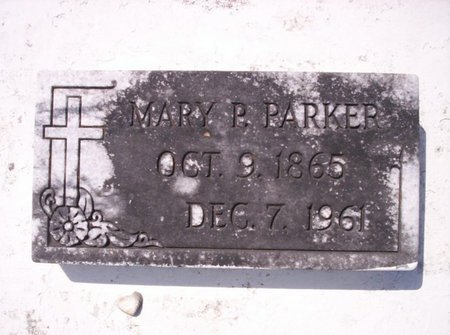 PARKER, MARY P - Allen County, Louisiana | MARY P PARKER - Louisiana Gravestone Photos