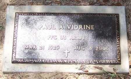 VIDRINE, PAUL A (VETERAN) - Allen County, Louisiana | PAUL A (VETERAN) VIDRINE - Louisiana Gravestone Photos