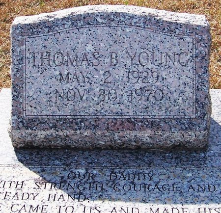 YOUNG, THOMAS B - Allen County, Louisiana | THOMAS B YOUNG - Louisiana Gravestone Photos