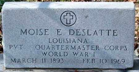 DESLATTE, MOISE E  (VETERAN WWI) - Ascension County, Louisiana | MOISE E  (VETERAN WWI) DESLATTE - Louisiana Gravestone Photos