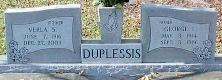 DUPLESSIS, VERLA - Ascension County, Louisiana | VERLA DUPLESSIS - Louisiana Gravestone Photos