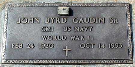 GAUDIN, JOHN BYRD, SR  (VETERAN WWII) - Ascension County, Louisiana | JOHN BYRD, SR  (VETERAN WWII) GAUDIN - Louisiana Gravestone Photos