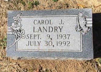 LANDRY, CAROL J - Ascension County, Louisiana   CAROL J LANDRY - Louisiana Gravestone Photos