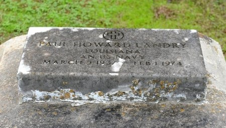LANDRY, PAUL HOWARD  (VETERAN) - Ascension County, Louisiana | PAUL HOWARD  (VETERAN) LANDRY - Louisiana Gravestone Photos